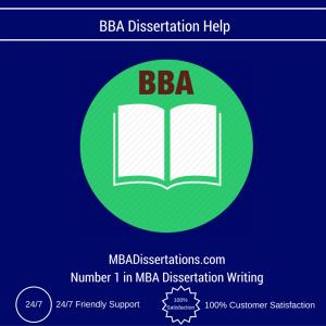 BBA Dissertation Help
