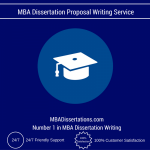 MBA Dissertation Proposal Writing Service